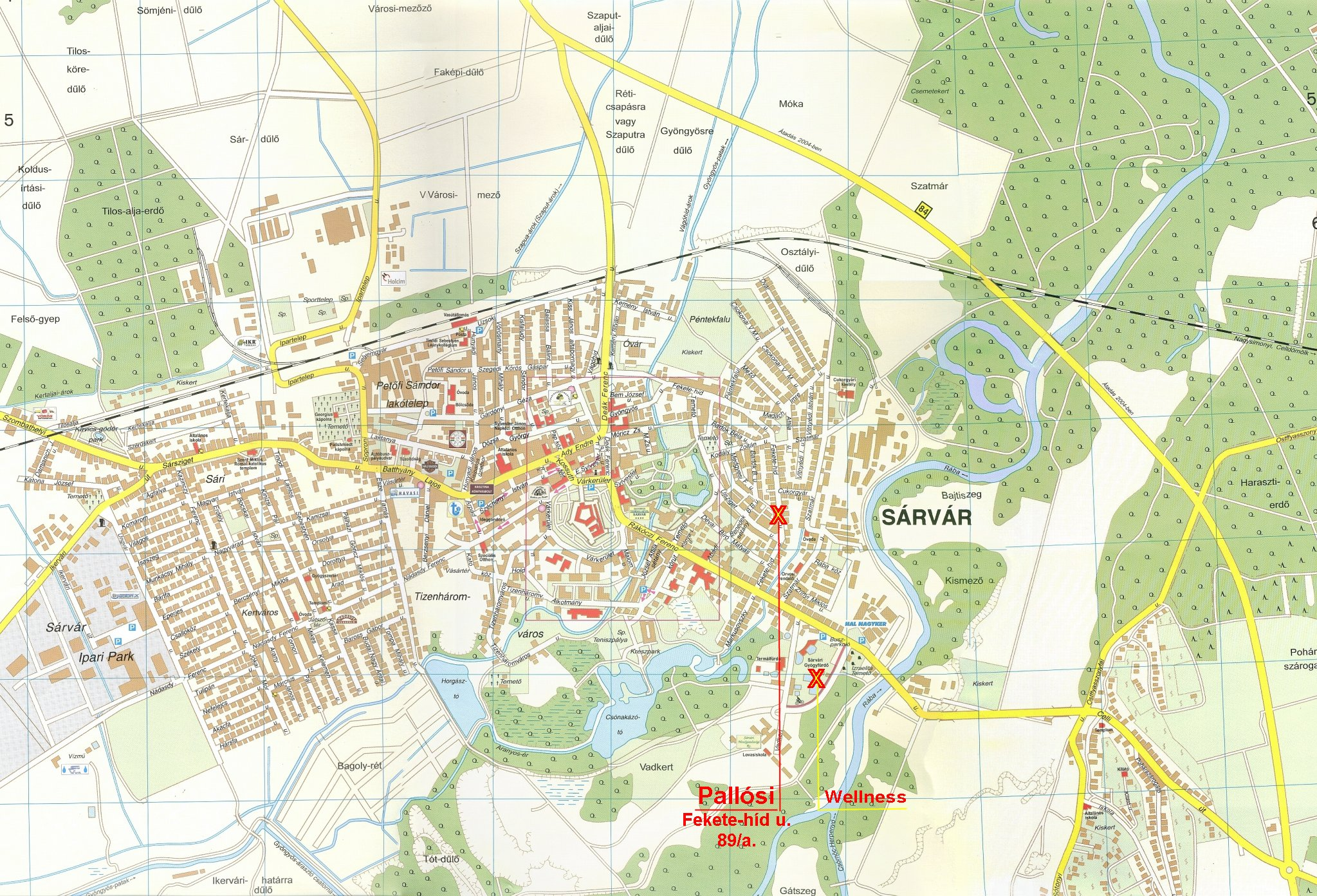 sárvár fürdő térkép Pallósi Ház   Sárvár, Haus Pallósi   Sarvar ::..